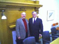 Joe Esquirol visits Randy during Highgate Dam meeting at the Legislature - Click on Image to enlarge